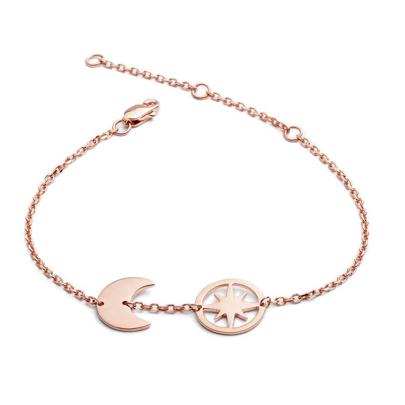 Chavin Gold Moon and Star Bracelet, Womens