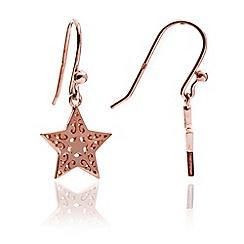 Chavin - Rose Gold Star & Moon Dangle Earring