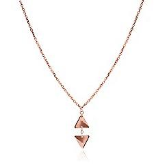 Chavin - Rose rose gold small leaf pendant
