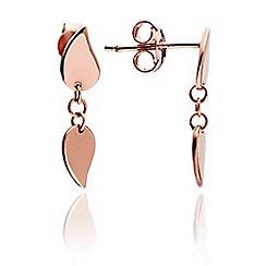 Chavin - Rose Gold Leaf Stud Earrings