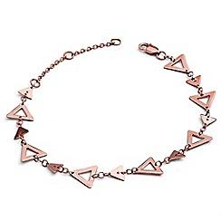 Chavin - Rose Gold Triple Open Triangle Bracelet