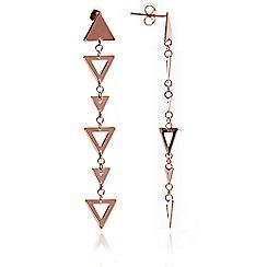 Chavin - Rose Gold Triangle Dangle Earrings