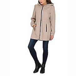 David Barry - Stone ladies lightweight hooded coat