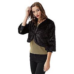 Jane Norman - Black faux fur chevron shrug