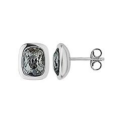 Dyrberg Kern - Silver crystal stud earrings