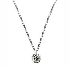 Dyrberg Kern - Silver sanaas crystal necklace