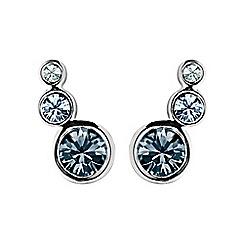 Dyrberg Kern - Blue lini gem earrings
