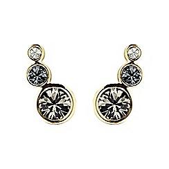 Dyrberg Kern - Grey lini gem earrings