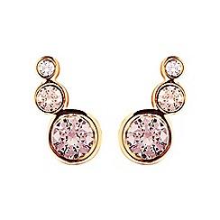 Dyrberg Kern - Rose lini gem earrings