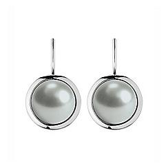 Dyrberg Kern - White poala faux pear earrings