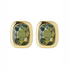 Dyrberg Kern - Green tron fancy cut earrings