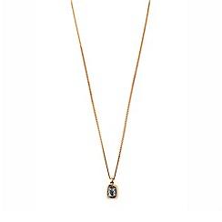 Dyrberg Kern - Rose atan fancy cut necklace