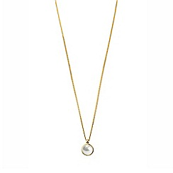 Dyrberg Kern - Gold glaze faux pearl pendant