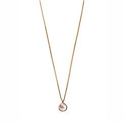 Dyrberg Kern - Rose glaze faux pearl pendant