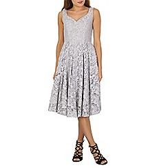 Jolie Moi - Grey sweetheart neckline lace prom dress