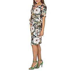 Jolie Moi - Brown half sleeve printed shift dress