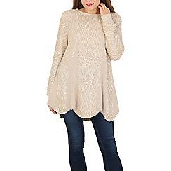 Tenki - Beige knitted long sleeve jumper