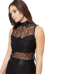 Jane Norman - Black sleeveless lace top