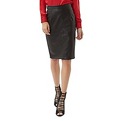Jane Norman - Black pu pencil skirt