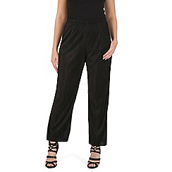 Izabel London - Black straight pleated trousers