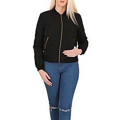 Izabel London - Black zip up bomber jacket