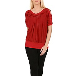 Izabel London - Red contrast trim top