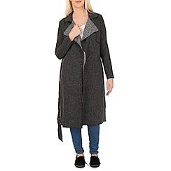 Izabel London - Black belted duster jacket