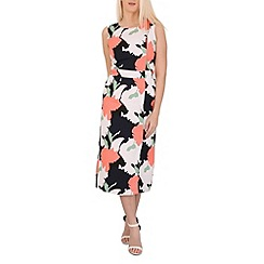 Izabel London - Navy botanical shift dress