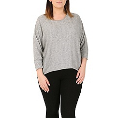 Samya - Light grey batwing knit top