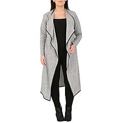 Samya - Light grey draped long-line cardigan