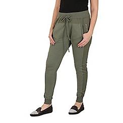 Stella Morgan - Khaki zip detail joggers