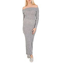 Stella Morgan - Dark grey bardot style maxi dress