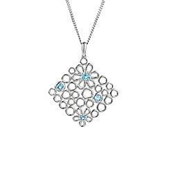 Amore Argento - Blue gem flora necklace