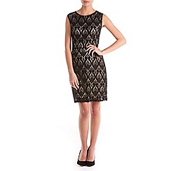 Sugarhill Boutique - Black beatrix lace a-line dress