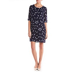 Sugarhill Boutique - Navy amelia stag tunic dress