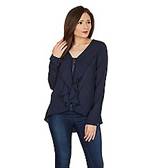 Solo - Navy zip blouse