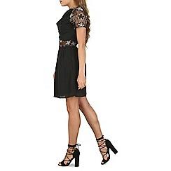 Cutie - Black pleated detail dress