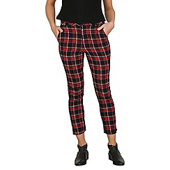 Cutie - Red checkered fitted trousers