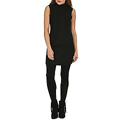 Cutie - Black high neck fitted dress