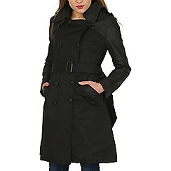 Cutie - Black leatherette trench coat