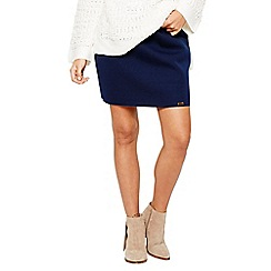 Bellfield - Navy scuba pleat skirt