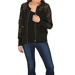 Mela - Black lace bomber jacket