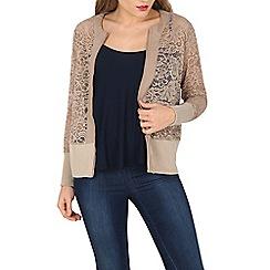Mela - Grey lace bomber jacket