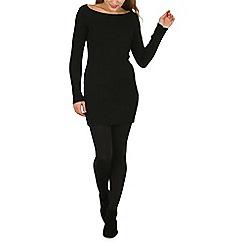 Mela - Black bardot knitted dress