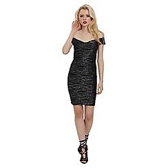Jane Norman - Silver ripple metallic dress