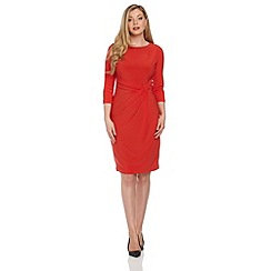 Roman Originals - Red 3/4 sleeve jersey dress