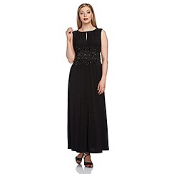 Roman Originals - Black embellished waist maxi dress