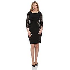 Roman Originals - Black lace sleeve dress