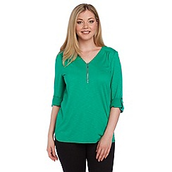 Roman Originals - Green zip front shirt
