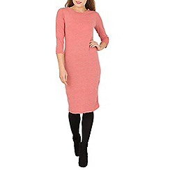 Indulgence - Pink 3/4 sleeve midi dress